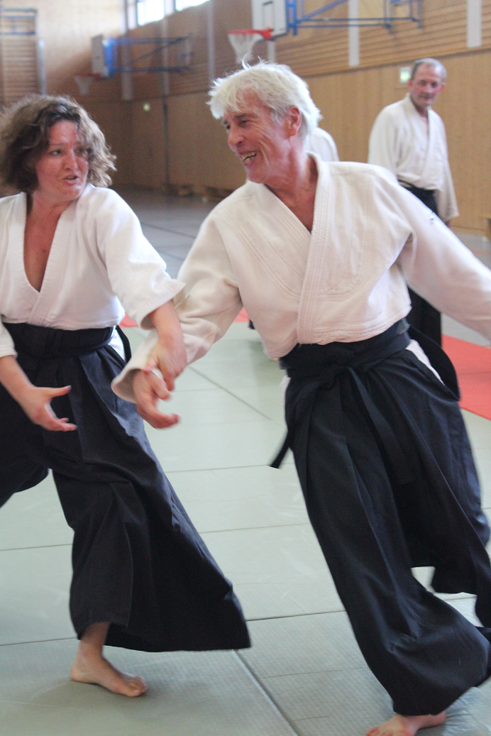 Aikido-Lehrer Dr. Peter Nawrot in Aktion
