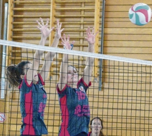 Einheit-Volleyballerinnen jubeln über zwei Erfolge