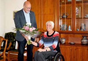 Marianne Buggenhagen zu Besuch in ihrer Heimat Ueckermünde